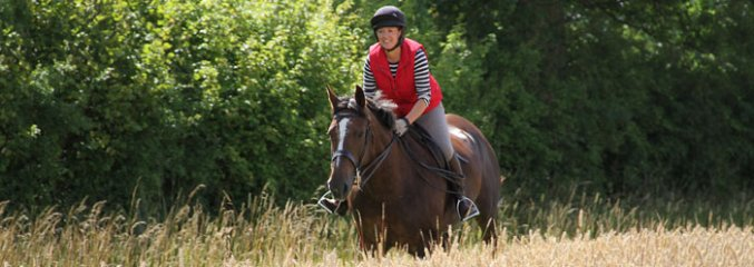 Hacking - Emma & Moose stubble field