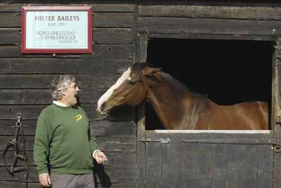 Mister Baileys with Paul Venner during his retirement